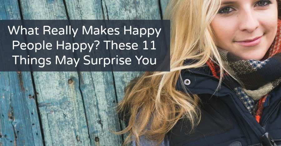 What Really Makes Happy People Happy?