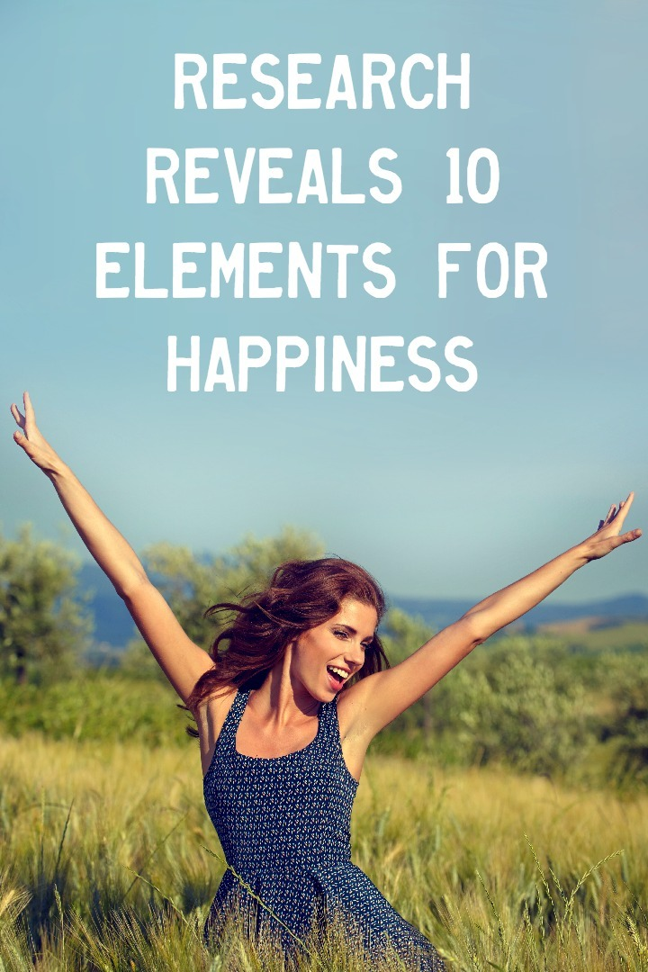 Research Reveals 10 Elements for Happiness ~